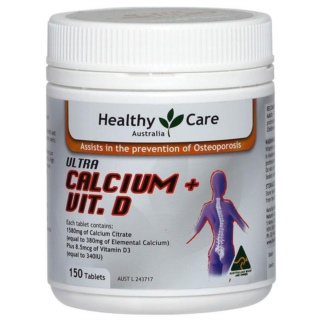 Vitamin D và Canxi - Healthy Care - Ultra Calcium Plus Vitamin D 150 viên